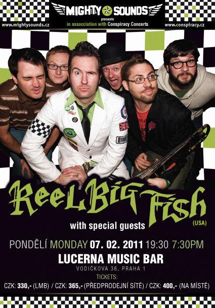 Reel Big Fish 7.2. v Praze - plakát