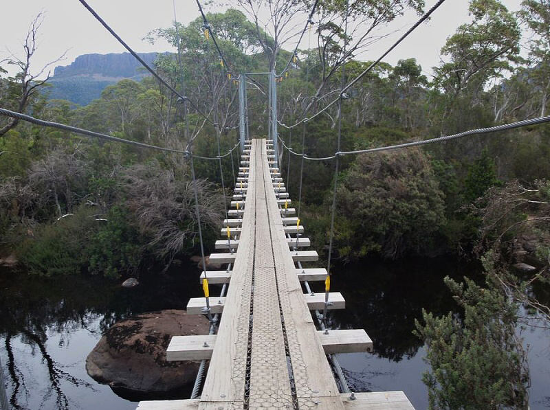 Overland track Lake St Clair bridge