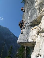 Random image: Echernwald Klettersteig - Jedno z nejtěžších míst nazvané: Rolli - Dach